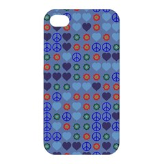 Peace And Love Apple Iphone 4/4s Premium Hardshell Case by LalyLauraFLM
