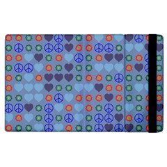 Peace And Love Apple Ipad 2 Flip Case by LalyLauraFLM