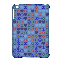 Peace And Love Apple Ipad Mini Hardshell Case (compatible With Smart Cover) by LalyLauraFLM