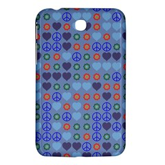 Peace And Love Samsung Galaxy Tab 3 (7 ) P3200 Hardshell Case  by LalyLauraFLM