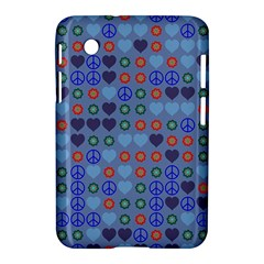 Peace And Love Samsung Galaxy Tab 2 (7 ) P3100 Hardshell Case  by LalyLauraFLM