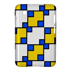 Yellow And Blue Squares Pattern Samsung Galaxy Tab 2 (7 ) P3100 Hardshell Case  by LalyLauraFLM