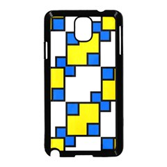 Yellow And Blue Squares Pattern  Samsung Galaxy Note 3 Neo Hardshell Case by LalyLauraFLM