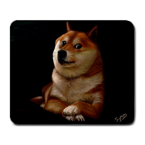 Doge Painting Mousepad By Leslie Liew Front