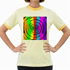 Rainbow Test Pattern Women s Ringer T Shirt (colored) by StuffOrSomething