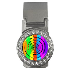 Rainbow Test Pattern Money Clip (cz) by StuffOrSomething