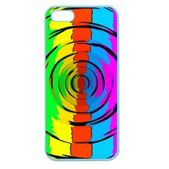 Rainbow Test Pattern Apple Seamless Iphone 5 Case (color) by StuffOrSomething