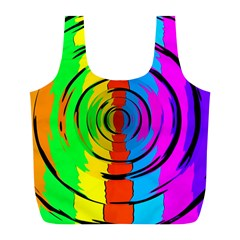 Rainbow Test Pattern Reusable Bag (l) by StuffOrSomething