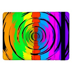 Rainbow Test Pattern Samsung Galaxy Tab Pro 12.2  Flip Case by StuffOrSomething