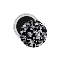 Background Noise In Black & White 1 75  Button Magnet by StuffOrSomething