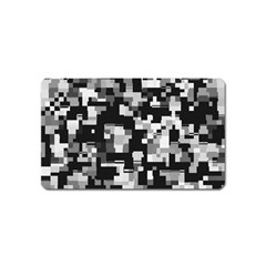 Background Noise In Black & White Magnet (Name Card) by StuffOrSomething