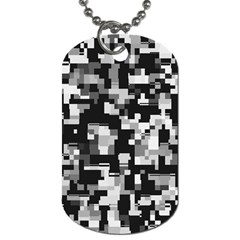 Background Noise In Black & White Dog Tag (two Sided)  by StuffOrSomething