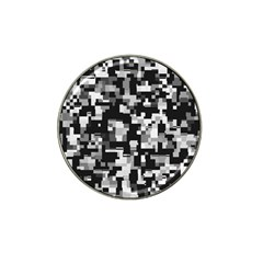 Background Noise In Black & White Golf Ball Marker 4 Pack (for Hat Clip) by StuffOrSomething
