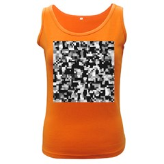 Background Noise In Black & White Women s Tank Top (Dark Colored) by StuffOrSomething