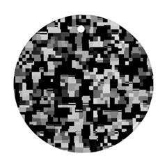 Background Noise In Black & White Round Ornament (two Sides) by StuffOrSomething