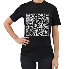 Background Noise In Black & White Women s T Shirt (black) by StuffOrSomething