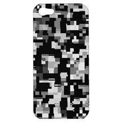 Background Noise In Black & White Apple Iphone 5 Hardshell Case by StuffOrSomething