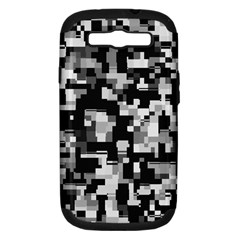 Background Noise In Black & White Samsung Galaxy S Iii Hardshell Case (pc+silicone) by StuffOrSomething