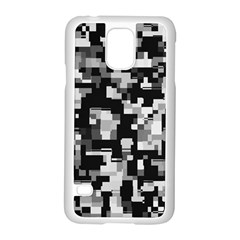 Background Noise In Black & White Samsung Galaxy S5 Case (white) by StuffOrSomething