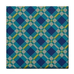 Squares And Stripes Pattern Face Towel by LalyLauraFLM