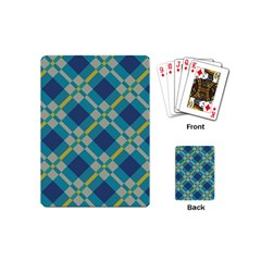 Squares And Stripes Pattern Playing Cards (mini) by LalyLauraFLM