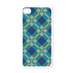 Squares And Stripes Pattern Apple Iphone 4 Case (white) by LalyLauraFLM