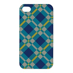 Squares And Stripes Pattern Apple Iphone 4/4s Hardshell Case by LalyLauraFLM