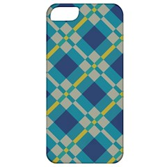 Squares And Stripes Pattern Apple Iphone 5 Classic Hardshell Case by LalyLauraFLM