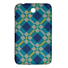 Squares And Stripes Pattern Samsung Galaxy Tab 3 (7 ) P3200 Hardshell Case  by LalyLauraFLM