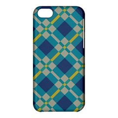 Squares And Stripes Pattern Apple Iphone 5c Hardshell Case by LalyLauraFLM