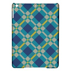 Squares And Stripes Pattern Apple Ipad Air Hardshell Case by LalyLauraFLM