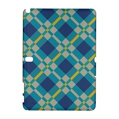 Squares and stripes pattern Samsung Galaxy Note 10.1 (P600) Hardshell Case by LalyLauraFLM