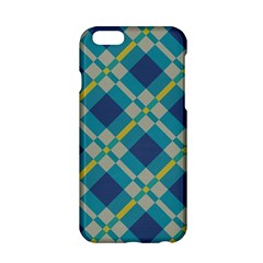 Squares And Stripes Pattern Apple Iphone 6 Hardshell Case by LalyLauraFLM