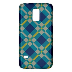 Squares And Stripes Patternsamsung Galaxy S5 Mini Hardshell Case by LalyLauraFLM