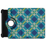 Squares and stripes patternKindle Fire HD Flip 360 Case Front