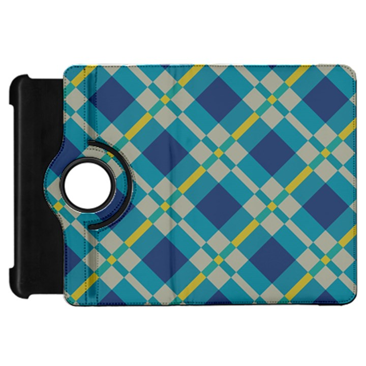 Squares and stripes patternKindle Fire HD Flip 360 Case