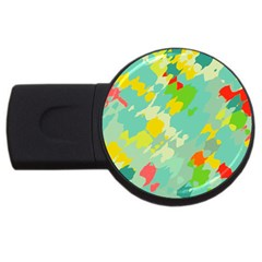 Smudged Shapes Usb Flash Drive Round (4 Gb) by LalyLauraFLM