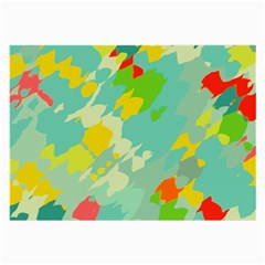 Smudged Shapes Glasses Cloth (large) by LalyLauraFLM