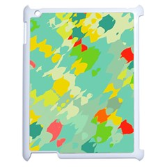 Smudged Shapes Apple Ipad 2 Case (white) by LalyLauraFLM