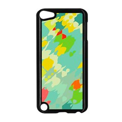 Smudged Shapes Apple Ipod Touch 5 Case (black) by LalyLauraFLM