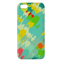 Smudged Shapes Iphone 5s Premium Hardshell Case by LalyLauraFLM