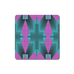 Tribal Purple Rhombus Magnet (square) by LalyLauraFLM