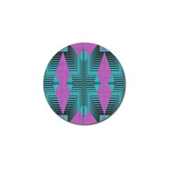Tribal Purple Rhombus Golf Ball Marker (10 Pack) by LalyLauraFLM