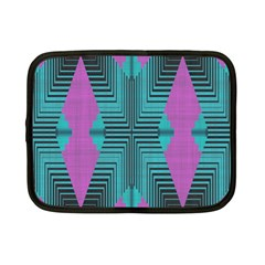 Tribal Purple Rhombus Netbook Case (small) by LalyLauraFLM