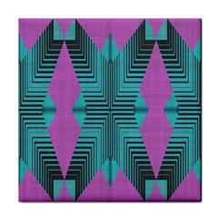 Tribal Purple Rhombus Face Towel by LalyLauraFLM