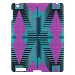 Tribal Purple Rhombus Apple Ipad 3/4 Hardshell Case by LalyLauraFLM