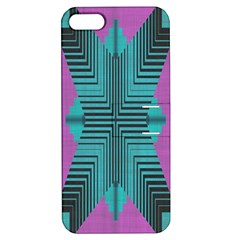 Tribal Purple Rhombus Apple Iphone 5 Hardshell Case With Stand by LalyLauraFLM