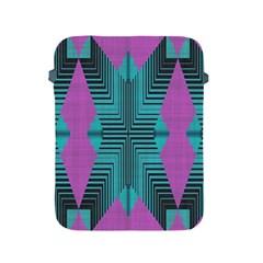 Tribal Purple Rhombus Apple Ipad 2/3/4 Protective Soft Case by LalyLauraFLM