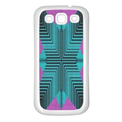 Tribal Purple Rhombus Samsung Galaxy S3 Back Case (white) by LalyLauraFLM