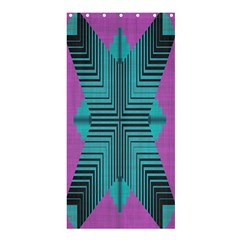 Tribal Purple Rhombus	shower Curtain 36  X 72
